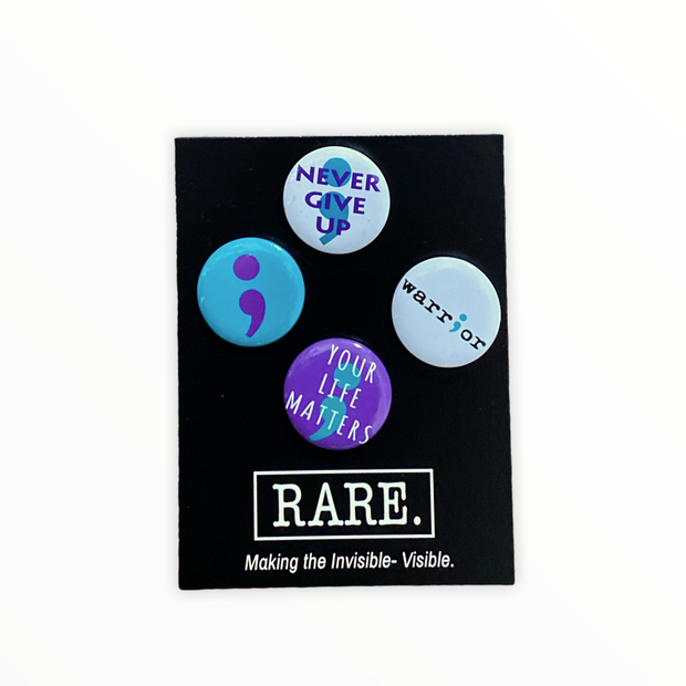 Suicide Awareness Mini Buttons - RARE.