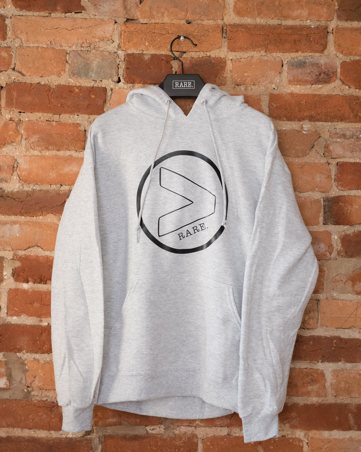 RARE. (X) Greater Than Logo Hooded Sweatshirt - RARE.