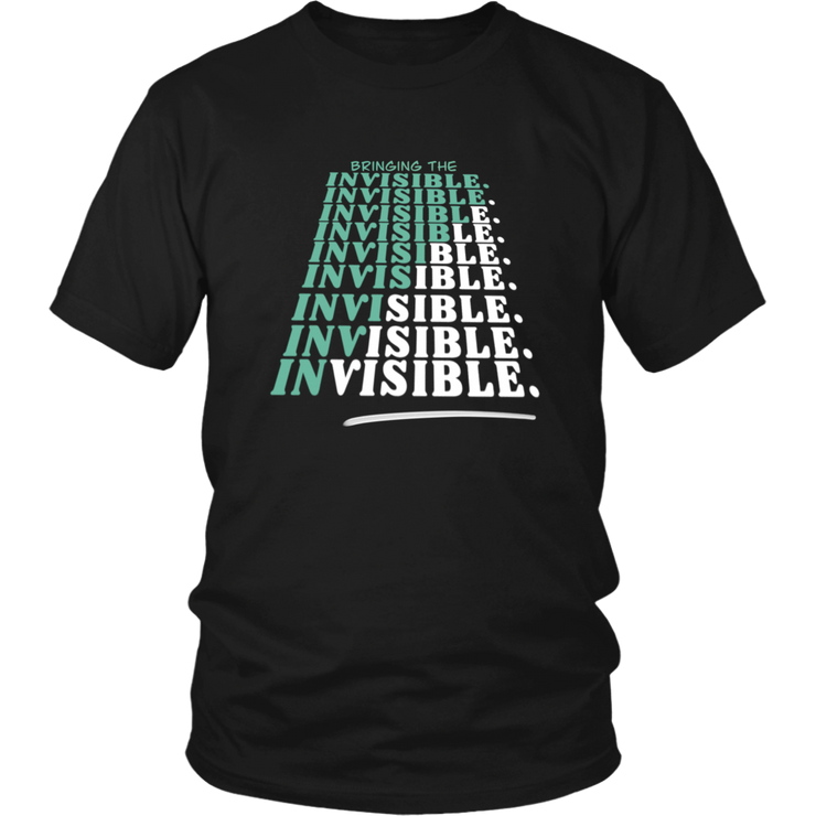 Brining The Invisible VISIBLE Unisex Adult Tee - RARE.
