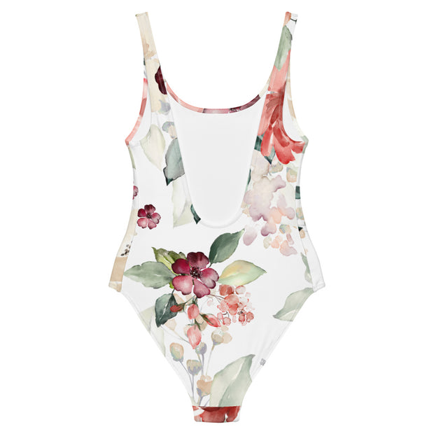 Grandma Chic Floral One-Piece Swimsuit - RARE.