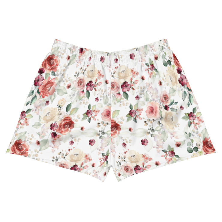 Grandma Chic Floral Women's Athletic Short Shorts - RARE.