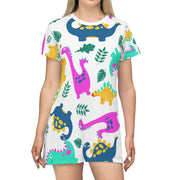 Dino All Over Print T-Shirt Dress - RARE.