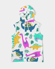 Dino All Over Print Men's Premium Heavyweight Sleeveless Hoodie - RARE.
