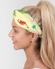 Dino All Over Print Twist Knot Headband Set - RARE.