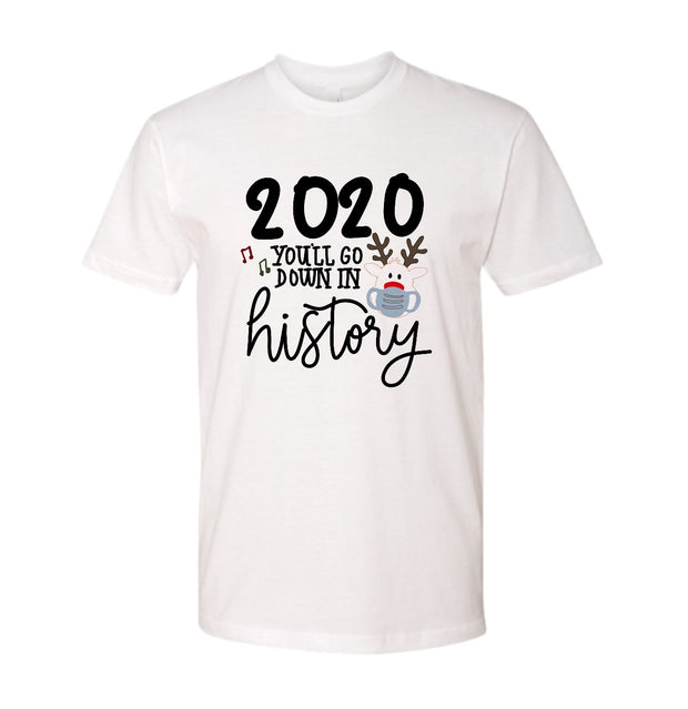 This Year Will Go Down in History Adult Graphic Tee - RARE.