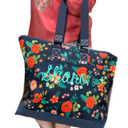Personalized Everywear Floral Utility Tote - RARE.