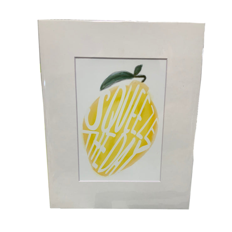Squeeze The Day Lemon Home Decor Print