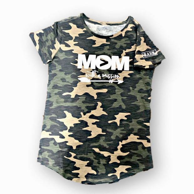"Ladies Cut ""Mom with a Mission"" Fierce Tee - RARE."