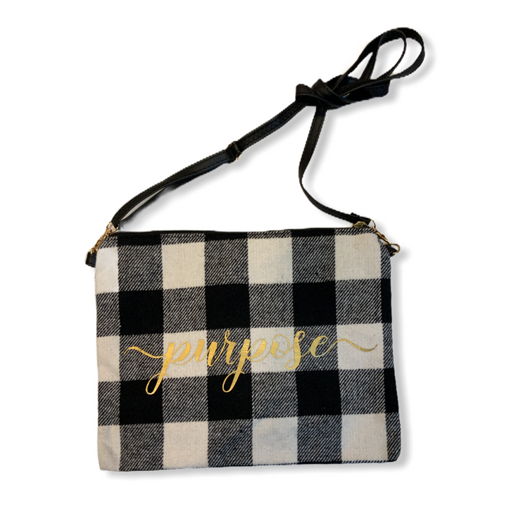 Buffalo Checkered Detachable Crossbody Zipper Bag: Purpose Design - RARE.