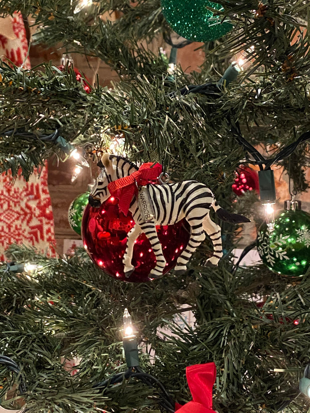Zebra Herd Power Word Ornament - RARE.