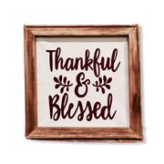 Thankful & Blessed 2020 Decor Sign - RARE.