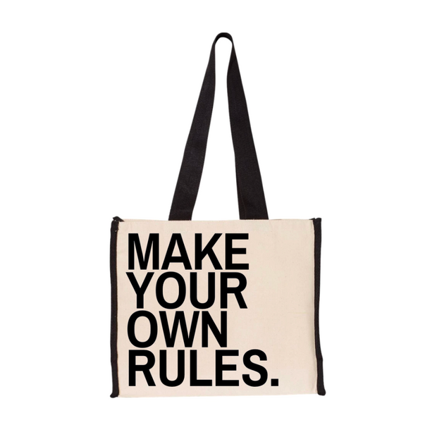Make your own rules tote - RARE.