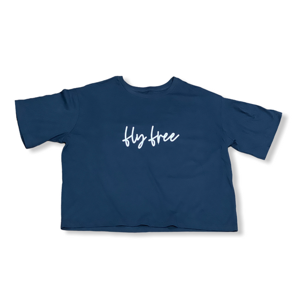 Fly Free Cropped Modest Tee