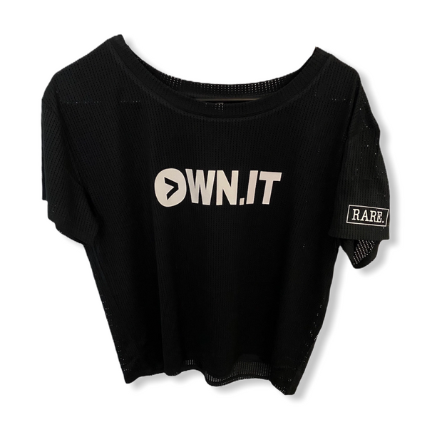 Own. It Ladies Mesh Cropped Tee - RARE.