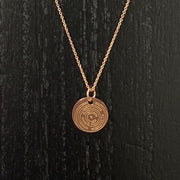 Engraved Labyrinth Simple Charm Necklace - RARE.