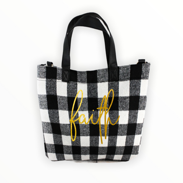 Have faith in your own style with this gorgeous check shoulder bag. - RARE.