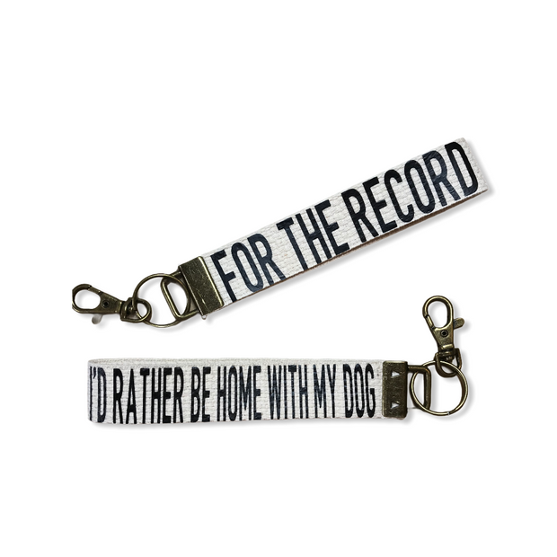 FTR I'd Rather Be With My Dog Key Fob - RARE.