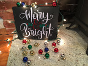 Merry and Bright Canvas - RARE.