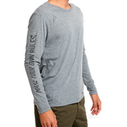 Make Your Own Rules Refined Logo Men's Slim Long Sleeve Tee - RARE.