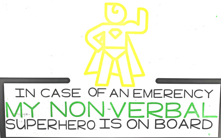 Emergency Awareness Car Decal - RARE.
