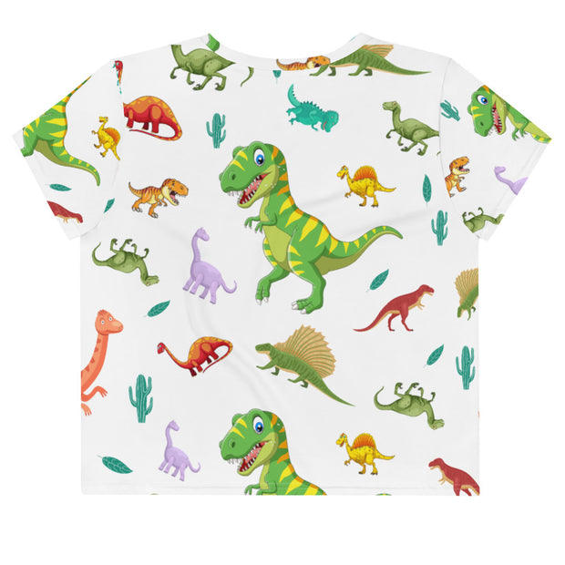 RARRRRE. Dino All-Over Print Crop Tee - RARE.