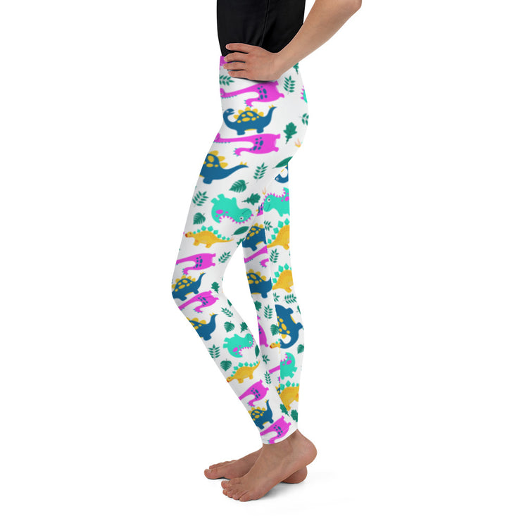 Dino Repeat Pattern Youth Leggings - RARE.