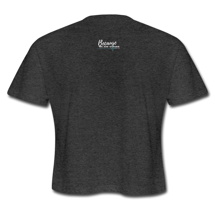 Because We Are Strong Podcast Signature Peeps. Cropped Tee - RARE.