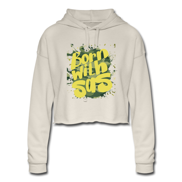Born With Sas BWS Cropped Lounge Hoodie - dust