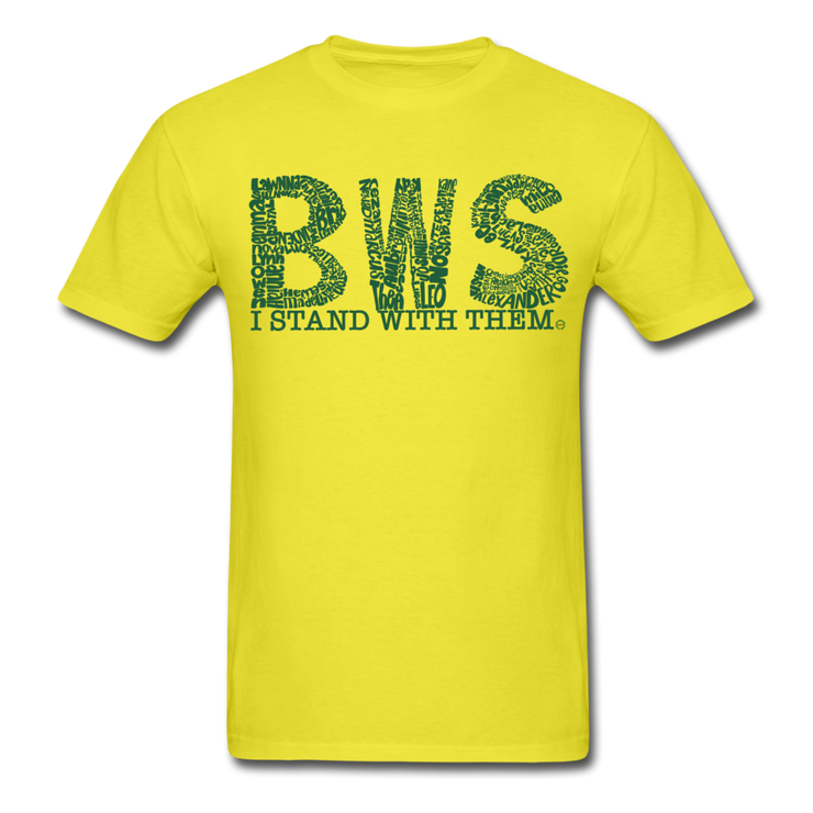 I Stand With Them Unisex Classic T-Shirt BWS Awareness - yellow