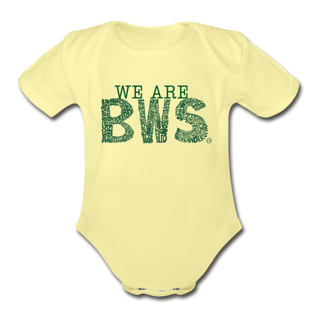 We Are BWS Awareness Onesies - washed yellow