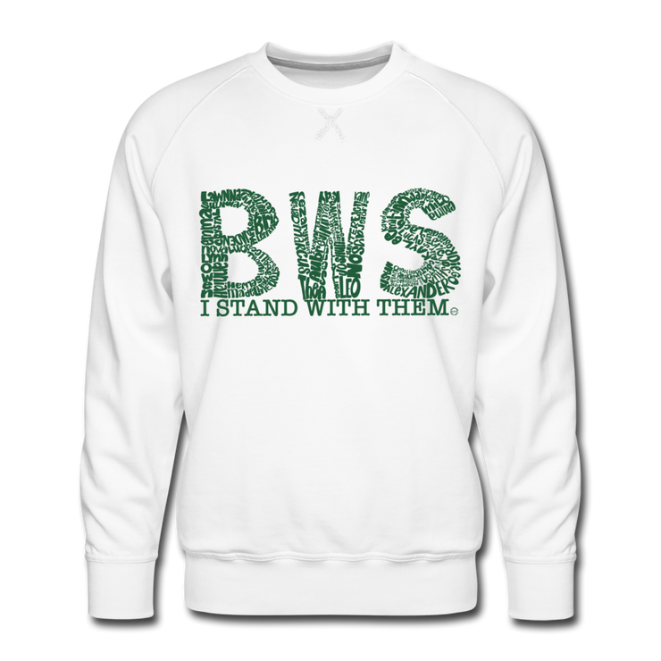 I Stand With Them Awareness AdultUnisex Limited Edition Crew Neck - white