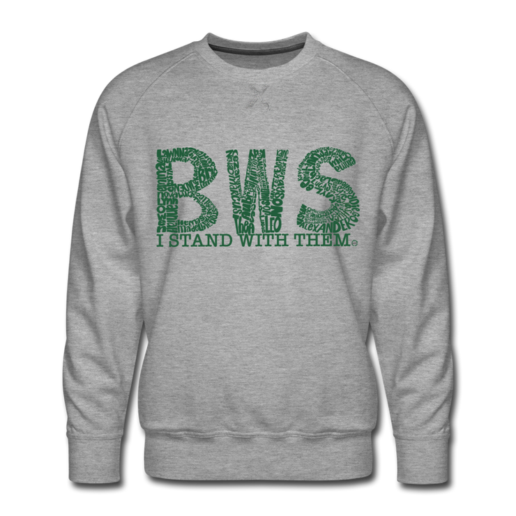 I Stand With Them Awareness AdultUnisex Limited Edition Crew Neck - heather gray
