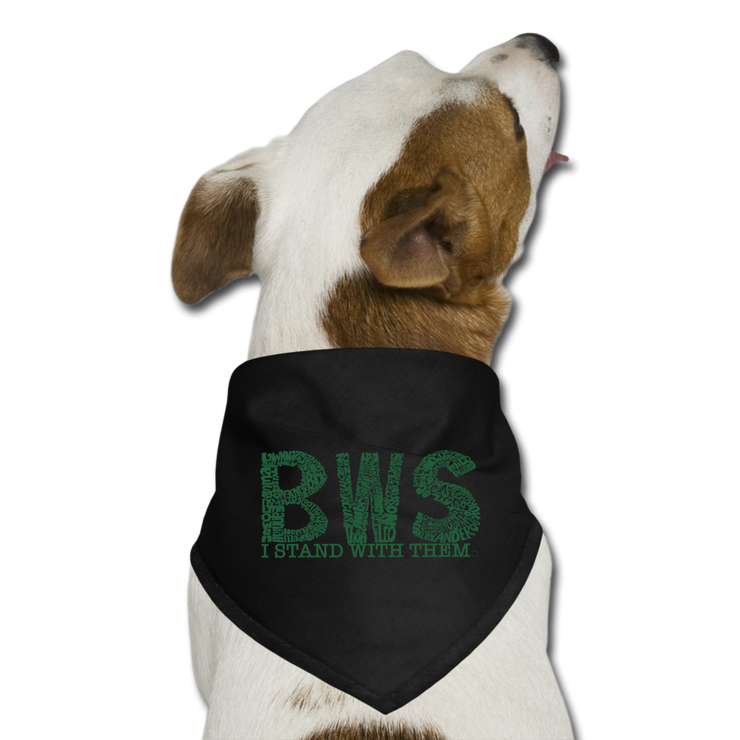 I Stand With BWS Awareness Dog Bandana - black