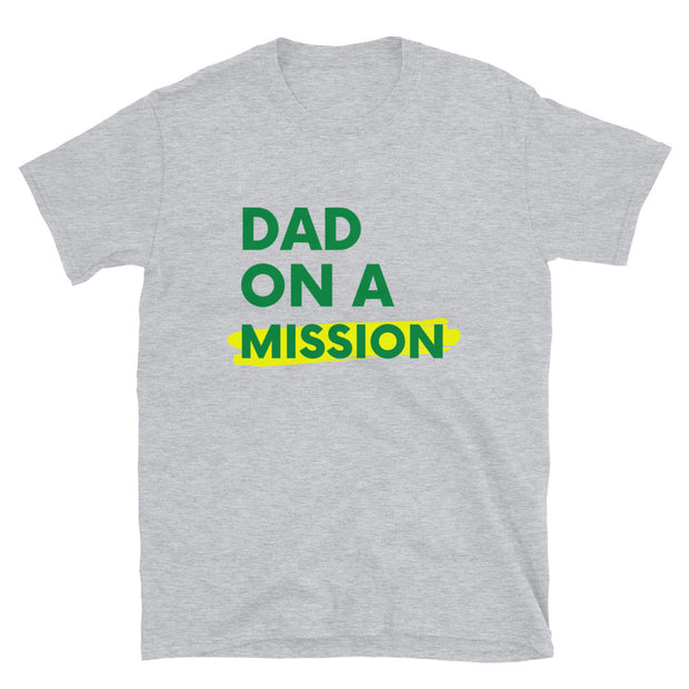 Dad On A. Mission Mens Short-Sleeve Unisex T-Shirt - RARE.