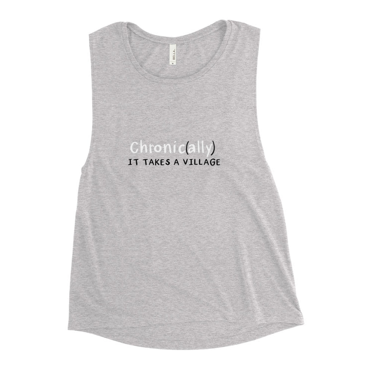I'm with a Chronic Zebra Ladies' Muscle Tank