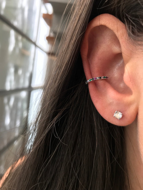 Colorful helix ear cuff