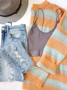 Oversized Lucky Stripe Sweater