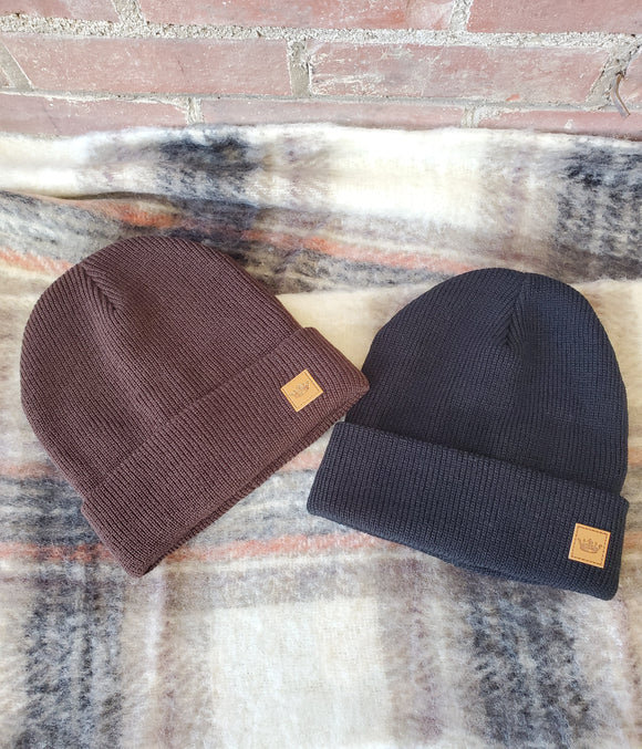 Tan Fleece Lined Beanie
