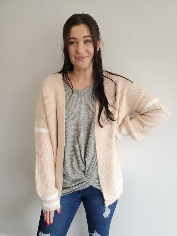 Blush Varsity Sweater