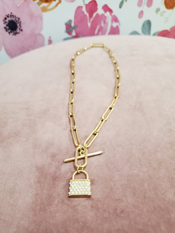 Locked On You Necklace