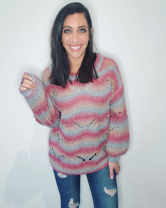 Ombre Wave Sweater
