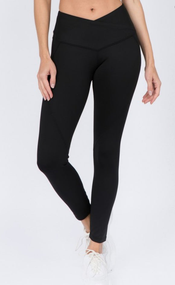V Waistband Athletic Leggings