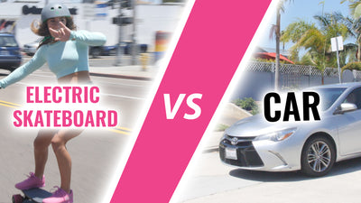 Can you beat a car on your skateboard?