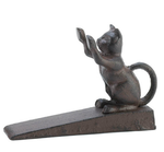 Cast Iron Paws Up Kitty Cat Door Stopper