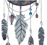 Crescent Moon Native-Style Metal Wall Decor