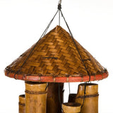 35-Inch Woven Hat Bamboo Wind Chime