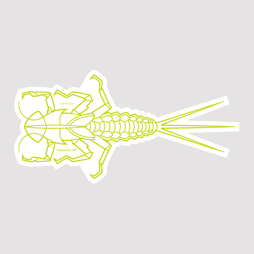 Beatis Mayfly Nymph - Sticker