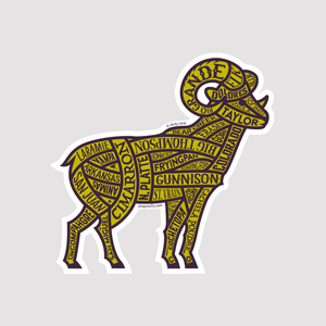 Colorado Rivers Bighorn Sheep - Sticker