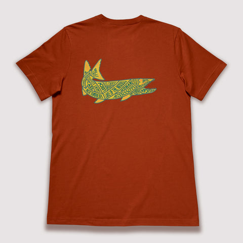 North American Trout - T-Shirt / Black Walnut