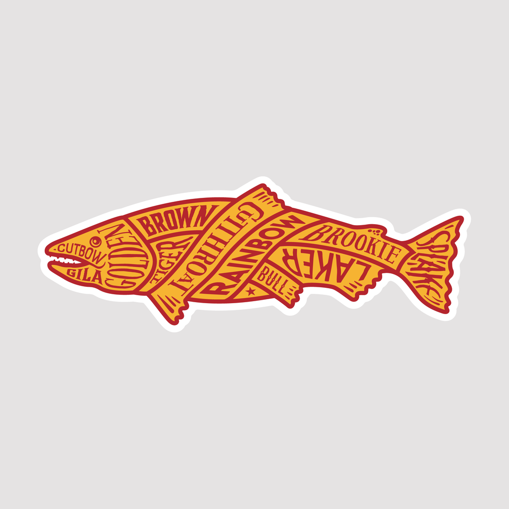 North American Trout - Sticker